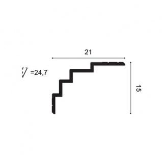 Eckleiste Orac Decor C393 MODERN STEPS Zierleiste Modernes Design weiß 2m - Vorschau 2