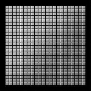 Mosaik Fliese massiv Metall Edelstahl gebürstet in grau 1, 6mm stark ALLOY Glomesh-S-S-B 1, 07 m2 - Vorschau 3