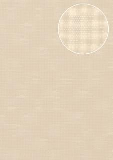 Uni Tapete Atlas COL-499-4 Vliestapete strukturiert mit Struktur matt creme perl-weiß hell-elfenbein 5, 33 m2