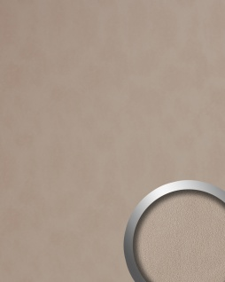 Wandverkleidung Leder Optik WallFace 19023 STONY GROUND Wandpaneel glatt in Nappaleder Optik matt selbstklebend beige 2, 6 m2