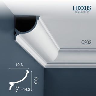 Stuck Eckleiste Orac Decor C902 LUXXUS für indirekte Beleuchtung Profilleiste Gesims   2 Meter