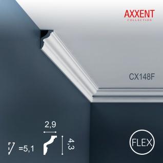 Stuck Leiste Eckleiste Orac Decor CX148F AXXENT flexible Zierleiste Profilleiste Wand Leiste Decken Leiste | 2 Meter