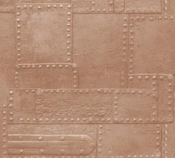 3D Tapete Profhome 364942-GU Vinyltapete glatt im Used Look matt kupfer braun 5, 33 m2