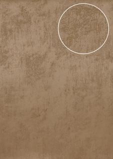 Uni Tapete Atlas TEM-5113-2 Vliestapete glatt in Spachteloptik und Metallic Effekt beige cappuccino grau-beige perl-beige 7, 035 m2