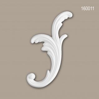 Zierelement PROFHOME 160011 Rokoko Barock Stil weiß