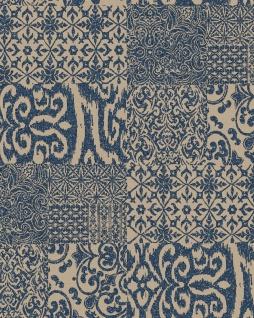 Barock Tapete Profhome VD219151-DI heißgeprägte Vliestapete geprägt im Barock-Stil glänzend blau beige 5, 33 m2