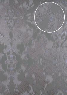 Spachtel Putz Tapete ATLAS HER-5130-5 Vliestapete geprägt im Landhaus-Stil schimmernd oliv grau-oliv braun-oliv 7, 035 m2