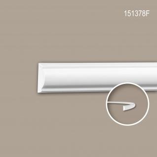 Wand- und Friesleiste PROFHOME 151378F Stuckleiste Flexible Leiste Zierleiste Neo-Klassizismus-Stil weiß 2 m