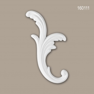 Zierelement PROFHOME 160111 Rokoko Barock Stil weiß