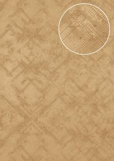 Grafik Tapete Atlas SIG-581-1 Vliestapete strukturiert mit abstraktem Muster schimmernd beige braun-beige grau-beige silber-grau 5, 33 m2