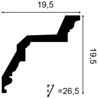Eckleiste Orac Decor C307 LUXXUS Stuckleiste Zierleiste Decken Wand Stuck Dekor Profil Stuckgesims Dekorleiste | 2 Meter - Vorschau 2