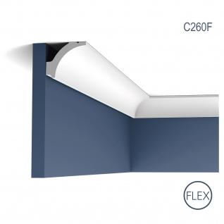 Eckleiste Orac Decor C260F LUXXUS flexible Leiste Zierleiste Decken Stuck Dekor Profil Gesims Dekorleiste 2 Meter