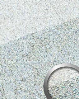 Wandpaneel Glas-Optik WallFace 16990 COCKTAIL Luxus Dekor Wandverkleidung selbstklebend silber weiß   2, 60 qm