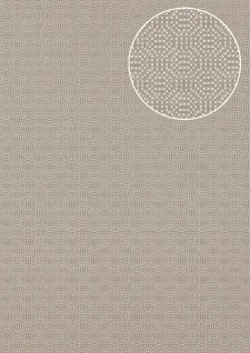 Luxus Struktur Tapete Atlas COL-543-2 Vliestapete Luxus Strukturiert unifarben schimmernd silber 5, 33 m2