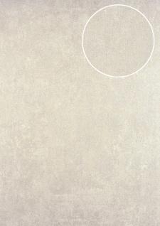 Uni Tapete ATLAS HER-5141-7 Vliestapete strukturiert mit Struktur schimmernd creme perl-beige 7, 035 m2