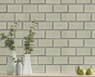 Grafik Tapete Profhome BA220104-DI heißgeprägte Vliestapete geprägt mit geometrischen Formen glänzend beige grau-beige weiß 5, 33 m2 - Vorschau 2