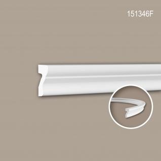 Wand- und Friesleiste PROFHOME 151346F Stuckleiste Flexible Leiste Zierleiste Neo-Klassizismus-Stil weiß 2 m