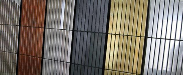 Mosaik Fliese massiv Metall Edelstahl matt in grau 1, 6mm stark ALLOY Linear-S-S-MA 0, 94 m2 - Vorschau 5