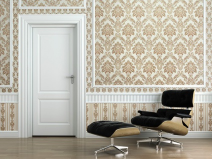 Barock Tapete XXL Vliestapete 3D EDEM 655-95 Damast Muster Textil-Optik Barocktapete grün gold creme hellbraun 10, 65 m2 - Vorschau 3