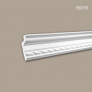 Eckleiste PROFHOME 150119 Zierleiste Stuckleiste Neo-Klassizismus-Stil weiß 2 m