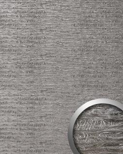 Wandpaneel Luxus Struktur Leder WallFace 15659 PERSIAN TREASURE Verkleidung selbstklebende Tapete platin-grau | 2, 60 qm