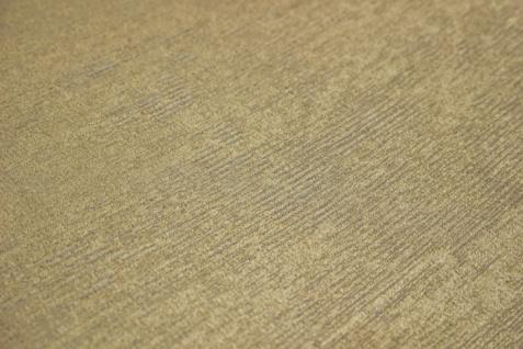 Uni Tapete Atlas TEM-5114-4 Vliestapete strukturiert im Shabby Chic Stil schimmernd gold elfenbein perl-beige creme-weiß 7, 035 m2 - Vorschau 2