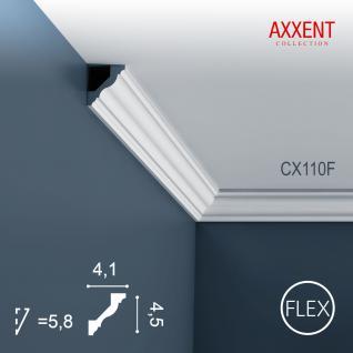 Zierleiste Profilleiste Orac Decor CX110F AXXENT flexible Stuck Profil Eckleiste Wand Leiste Decken Leiste | 2 Meter