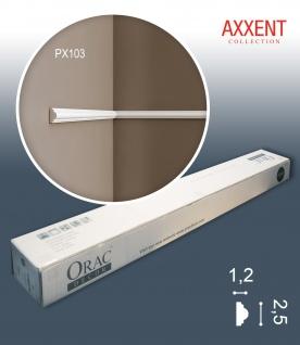 Orac Decor PX103 AXXENT 1 Karton SET mit 10 Stuckleisten Wandleisten | 20 m