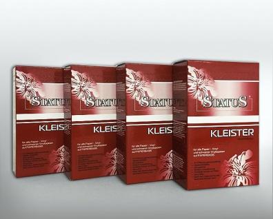 4x 250 g STATUS PROFI Kleister | Kleber für alle Vinyl- u. Rauhfaser-Tapeten auf Papierbasis | 1 kg für 160 qm Tapeten