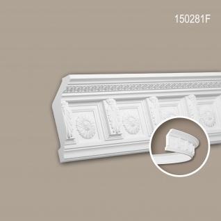 Eckleiste PROFHOME 150281F Stuckleiste Flexible Leiste Zierleiste Zeitloses Klassisches Design weiß 2 m