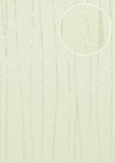 Streifen Tapete Atlas COL-570-2 Vliestapete glatt Design schimmernd grün weiß-grün 5, 33 m2