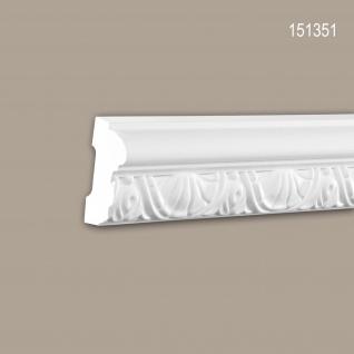 Wand- und Friesleiste PROFHOME 151351 Stuckleiste Zierleiste Wandleiste Neo-Klassizismus-Stil weiß 2 m