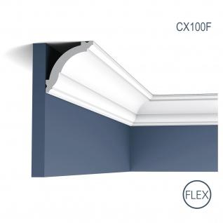 Zierleiste Profilleiste Orac Decor CX100F AXXENT flexible Stuck Profil Wand Leiste Decken Leiste | 2 Meter