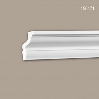 Eckleiste PROFHOME 150171 Zierleiste Stuckleiste Neo-Klassizismus-Stil weiß 2 m