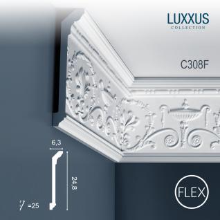 Dekor Profil Orac Decor C308F LUXXUS flexible Leiste Eckleiste Zierleiste Stuckleiste Decken Gesims Ornament 2 Meter