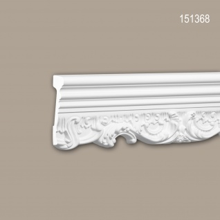 Wand- und Friesleiste PROFHOME 151368 Stuckleiste Zierleiste Friesleiste Neo-Renaissance-Stil weiß 2 m