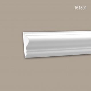 Wand- und Friesleiste PROFHOME 151301 Stuckleiste Zierleiste Wandleiste Neo-Klassizismus-Stil weiß 2 m