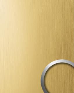Wandverkleidung Design Platte WallFace 15298 DECO Metall Dekoration selbstklebende Tapete gelb-gold gebürstet matt | 2, 60 qm