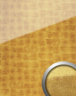 Wandverkleidung abriebfest selbstklebend gold beige WallFace 17840 LUXURY Wandpaneel Glas-Optik Cubes-Muster | 2, 60 qm