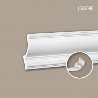 Eckleiste PROFHOME 150209F Stuckleiste Flexible Leiste Zierleiste Neo-Klassizismus-Stil weiß 2 m