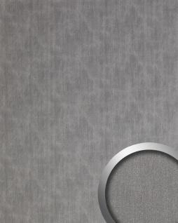 Wandpaneel Metalloptik WallFace 20202 SLIGHTLY USED Titan AR Wandverkleidung glatt im Used Look gebürstet selbstklebend abriebfest silber grau 2, 6 m2