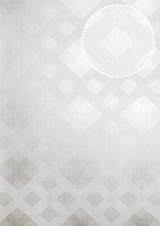 Grafik Tapete ATLAS XPL-588-1 Vliestapete strukturiert mit geometrischen Formen schimmernd weiß perl-weiß schnee-weiß silber 5, 33 m2