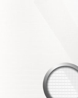Wandverkleidung Wandpaneel WallFace 13476 M-Style Design EyeCatch Dekor selbstklebend lack-weiß glänzend | 0, 96 qm
