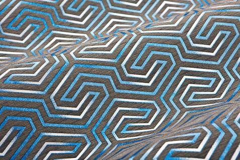 Grafik Tapete EDEM 84114BR92 Vliestapete leicht strukturiert mit Ornamenten und metallischen Akzenten braun quarz-grau perl-enzian silber 10, 65 m2 - Vorschau 2