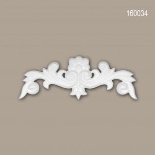 Zierelement PROFHOME 160034 Rokoko Barock Stil weiß