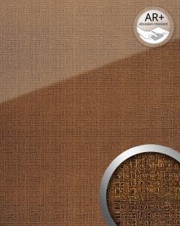 Wandpaneel Glas-Optik WallFace 20221 GRID Gold AR+ Wandverkleidung glatt in Textil-Optik glänzend selbstklebend abriebfest gold gold-braun 2, 6 m2