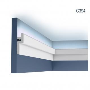 Eckleiste Orac Decor C394 MODERN STEPS Eckleiste für Indirekte Beleuchtung Zierleiste Stuckleiste modernes Design weiß 2 m