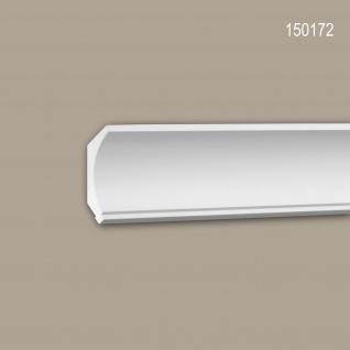 Eckleiste PROFHOME 150172 Zierleiste Stuckleiste Modernes Design weiß 2 m