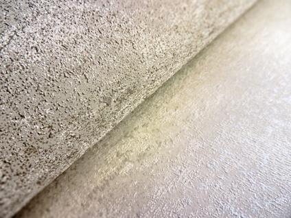 Ton-in-Ton Tapete ATLAS HER-5131-1 Vliestapete strukturiert im Shabby Chic Stil glänzend grau perl-weiß gold-braun 7, 035 m2 - Vorschau 3