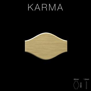 Mosaik Fliese massiv Metall Titan gebürstet in gold 1, 6mm stark ALLOY Karma-Ti-GB Designed by Karim Rashid 0, 86 m2 - Vorschau 2